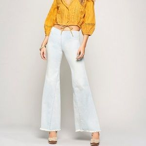 Free People Drapey A-line Flare Pull-on Jeans